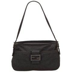 Fendi Dark Gray Cotton Shoulder Bag