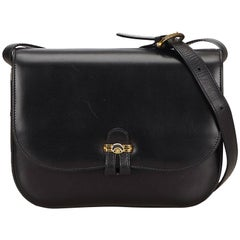 Gucci Black Leather Shoulder Bag