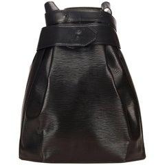 Louis Vuitton Black Epi Sac dEpaule