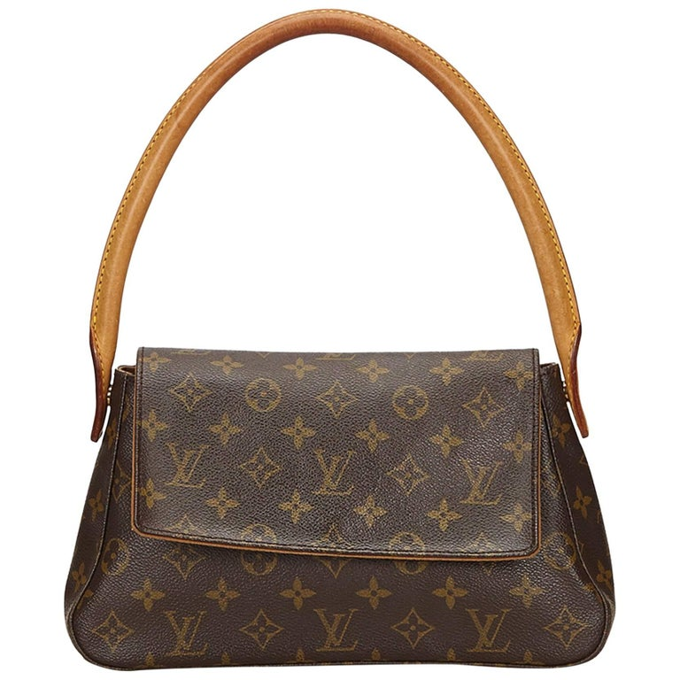 5a6b27c3b29 Louis Vuitton Brown Monogram Looping Mini For Sale at 1stdibs