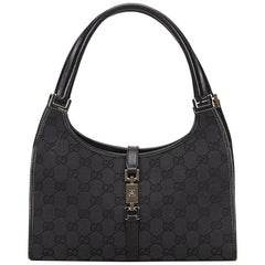 Gucci Black Jacquard Jackie Shoulder Bag