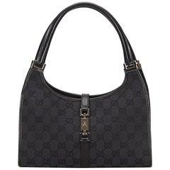 Gucci Black Jacquard Jackie Shoulder Bag