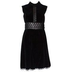 Susan Small Black Velvet Cocktail Dress