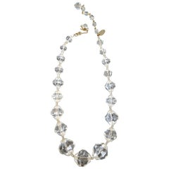 Vintage 1960 Miriam Haskell Lucite Ice Necklace