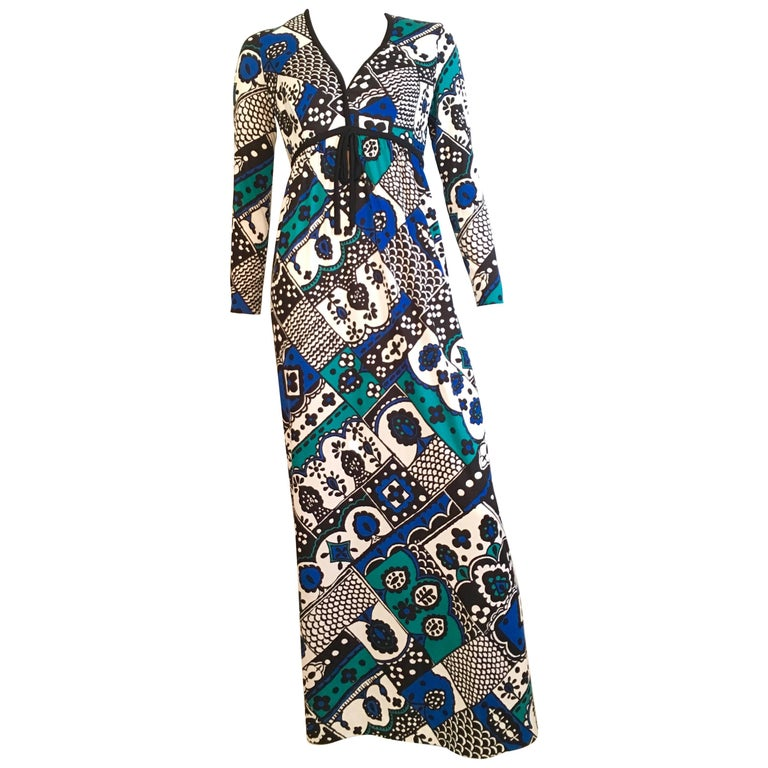 Young Dimensions for Saks Fifth Avenue MOD Maxi Dress Size 4. For Sale