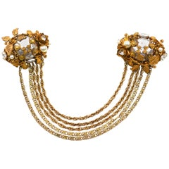 Miriam Haskell Oversized Chain Brooch
