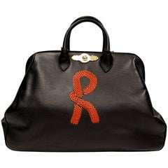 Roberta di Camerino Black Leather Doctor Bag