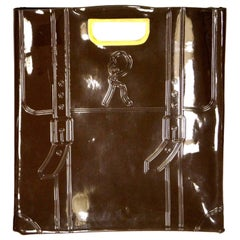 Vintage Brown Roberta di Camerino Vinyl Tote / Purse