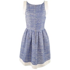 Chanel Dress Blue and White Zip Dress Size 4 US - 36 FR