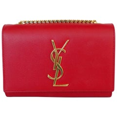 Yves Saint Laurent Lipstick Red Crossbody Bag
