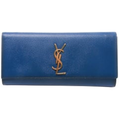 Saint Laurent YSL Electric Blue Cassandre Clutch