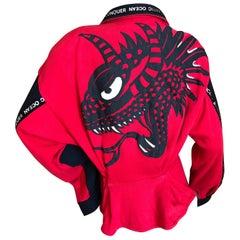 Kansai Yamamoto 1980's Red Dragon Jacket