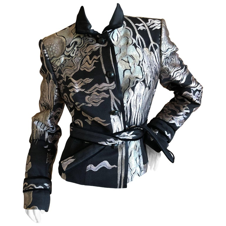 18e7c73bc6c Yves Saint Laurent by Tom Ford Fall 2004 Chinoiserie Jacquard Jacket For  Sale