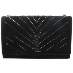 Saint Laurent YSL Black Embellished Classic Kate Crossbody Bag