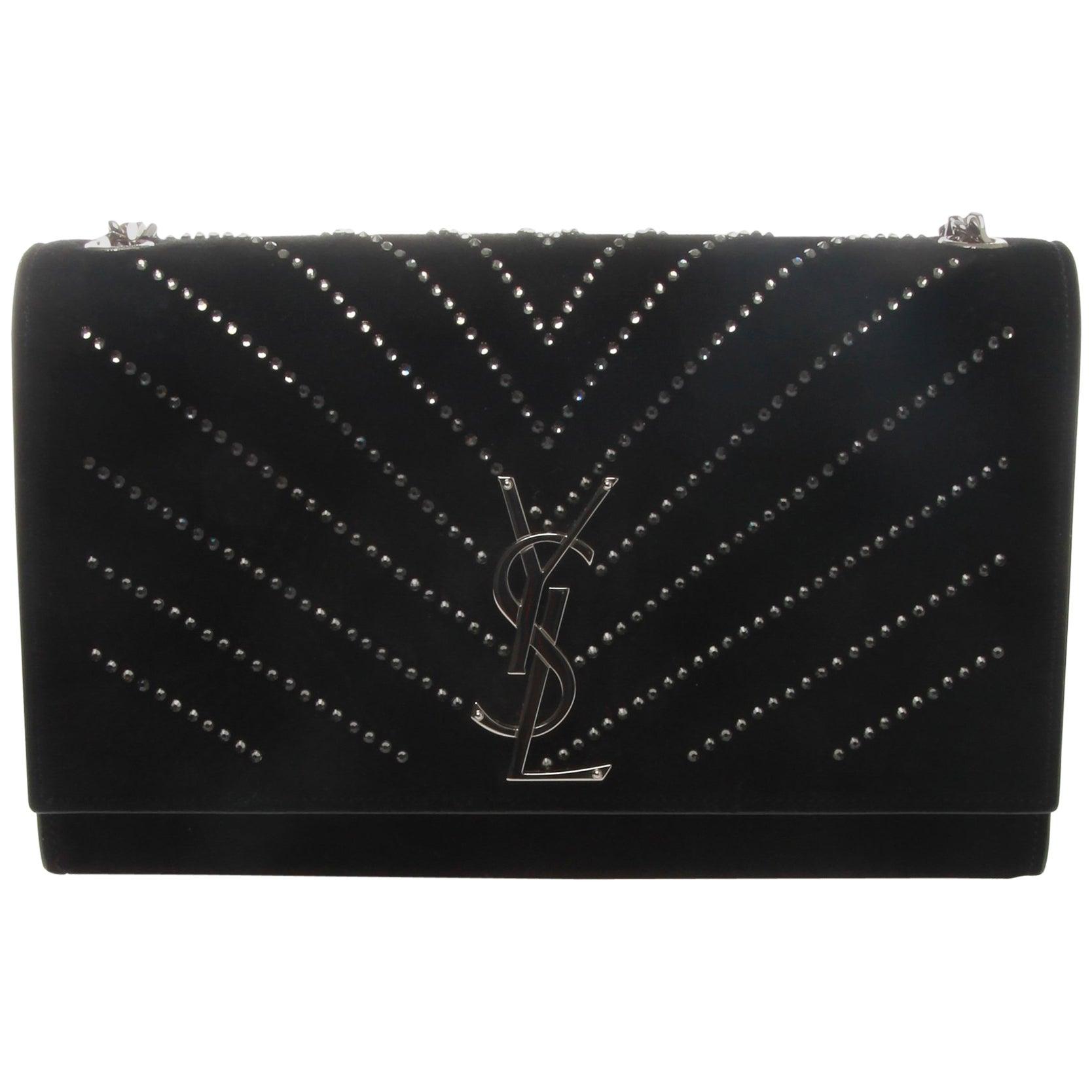 Saint Laurent YSL Black Embellished Classic Kate Crossbody Bag at 1stdibs b7ae48c754