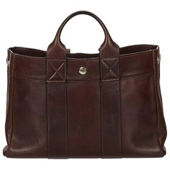 Hermes Brown Leather Fourre Tout PM