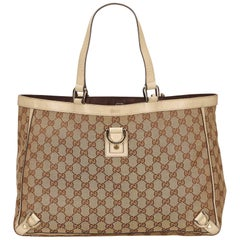 Gucci Brown GG Abbey-D Ring Tote