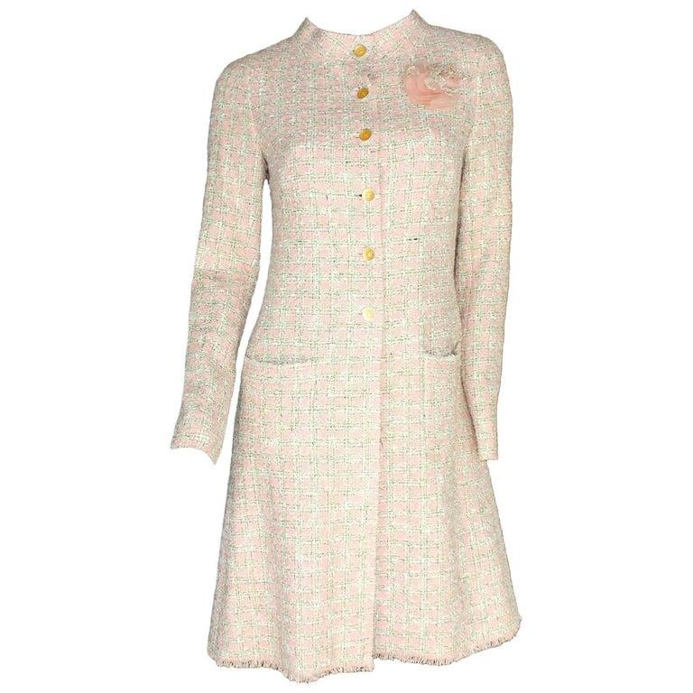 Beautiful Chanel Fringed Fantasy Lesage Tweed Coat