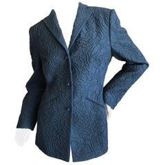 Chado Ralph Rucci Pure Cashmere Black Embellished Jacket Size 6