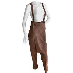 Yohji Yamamoto 1980's Pant Skirt Overalls