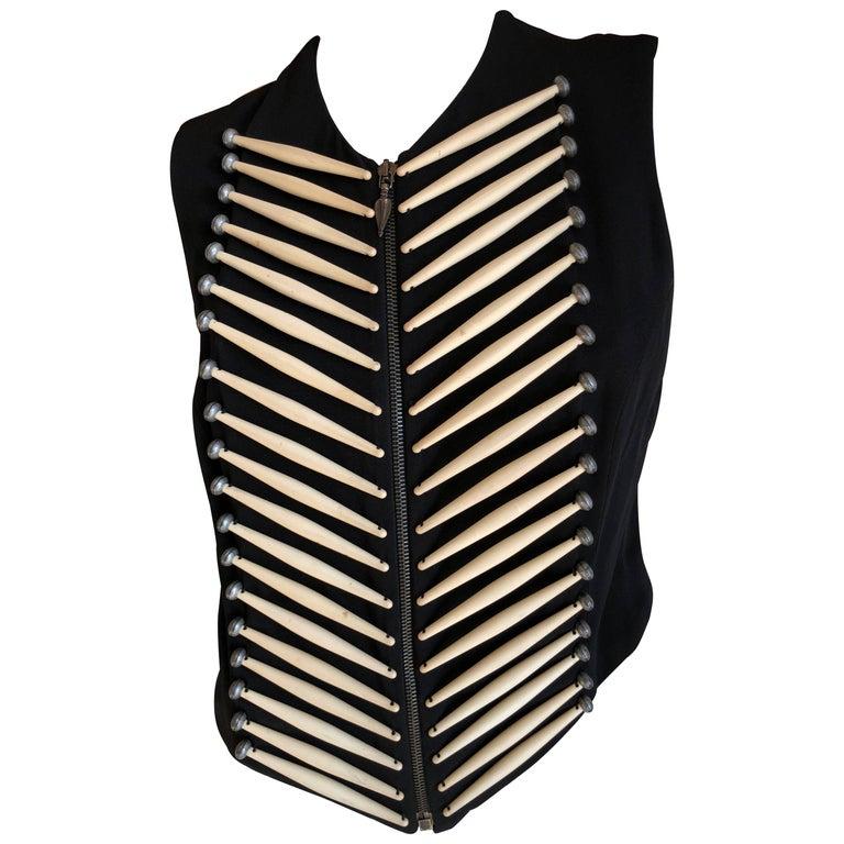 Rifat Ozbek Vintage  Embellished Vest For Sale