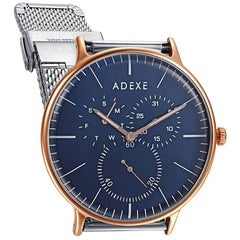 ADEXE Watches THEY Lifestyle Blue & Rosegold WristWatch