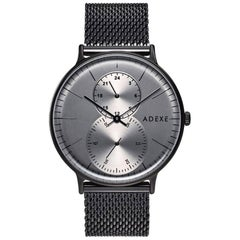 ADEXE Watches Foreseer Gun Black Contemporary WristWatch