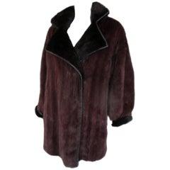 purple mink fur coat