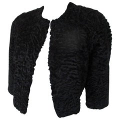 black persian lamb fur bolero
