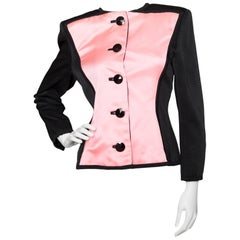 Yves Saint Laurent Vintage Pink and Black Jacket S