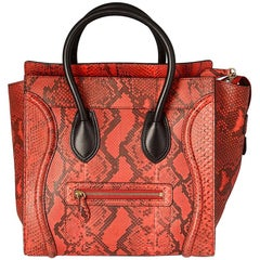 Céline Black and Red  Luggage Handbag