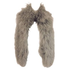 Collectible Chanel Fall 2009 Silver Mongolian Lamb Fur Vest With Chain Closure