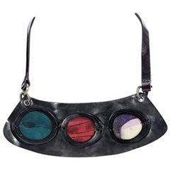 Multicolor Marni Leather Bib Necklace
