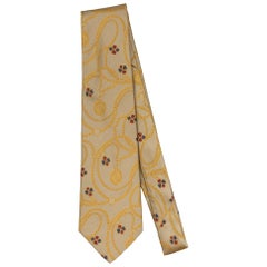 New Chanel Gold Chain Gripoix Silk Tie