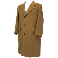 Men's Plush Camel Mongolian Cashmere and Mink Topcoat, 1969