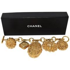 Chanel Classic Gold Charm Bracelet