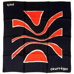 Courreges Scarf - 100% Silk - Mint Condition - 1960's - Rare