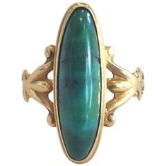Art Deco Royston Turquoise and gold ring
