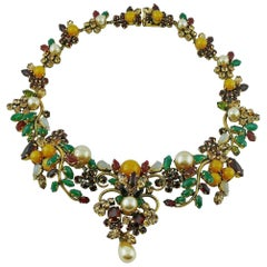 Christian Dior Vintage 1962 Bejeweled Museum Piece Necklace
