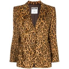Moschino Leopard Animal Print Blazer
