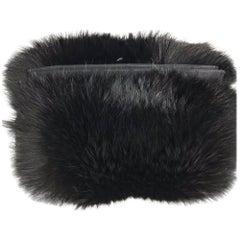 fox fur and down muff handbag combination 1940s