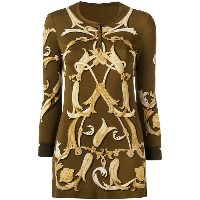 Hermes Arabesque Silk Printed Top