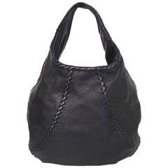Bottega Veneta Black Deerskin Leather Large Cervo Hobo Bag rt. $1,780
