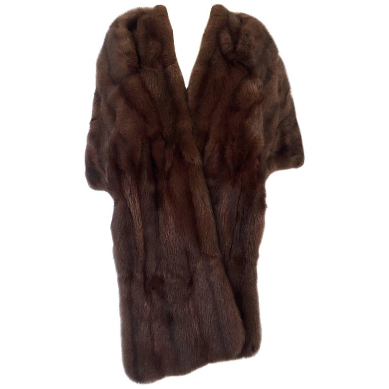 1960 S Chocolate Dyed Rabbit Fur Stole Capelet At 1stdibs