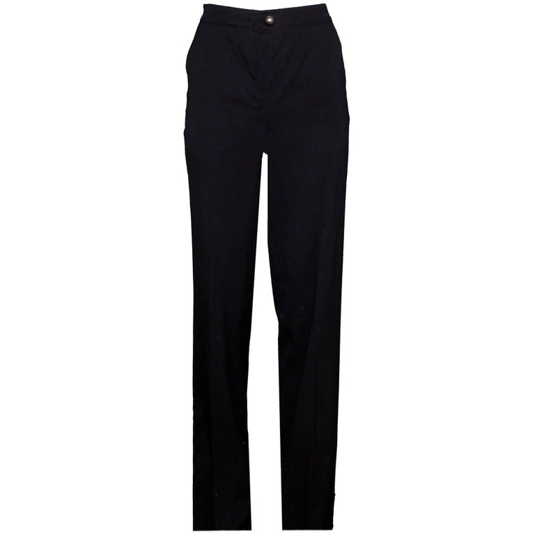 Fendi Black Wool Pants Sz IT38 For Sale