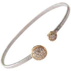 Diamond Cut Silver Wire Bracelet
