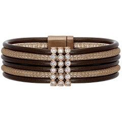 Eight Row Neoprene Bracelet with Sapphires