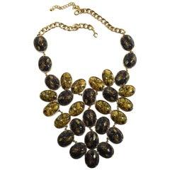 Dichotic Stone Huge Bib Necklace