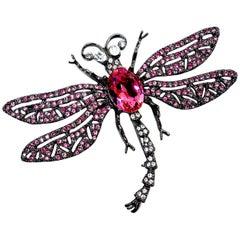 Kenneth Jay Lane KJL Pink Dragonfly Brooch