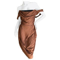 Vivienne Westwood Red Label Copper Color Cocktail Dress with Built in Corset
